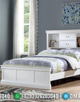 New Design Tempat Tidur Anak Minimalis White Duco Simple Style BT-0676