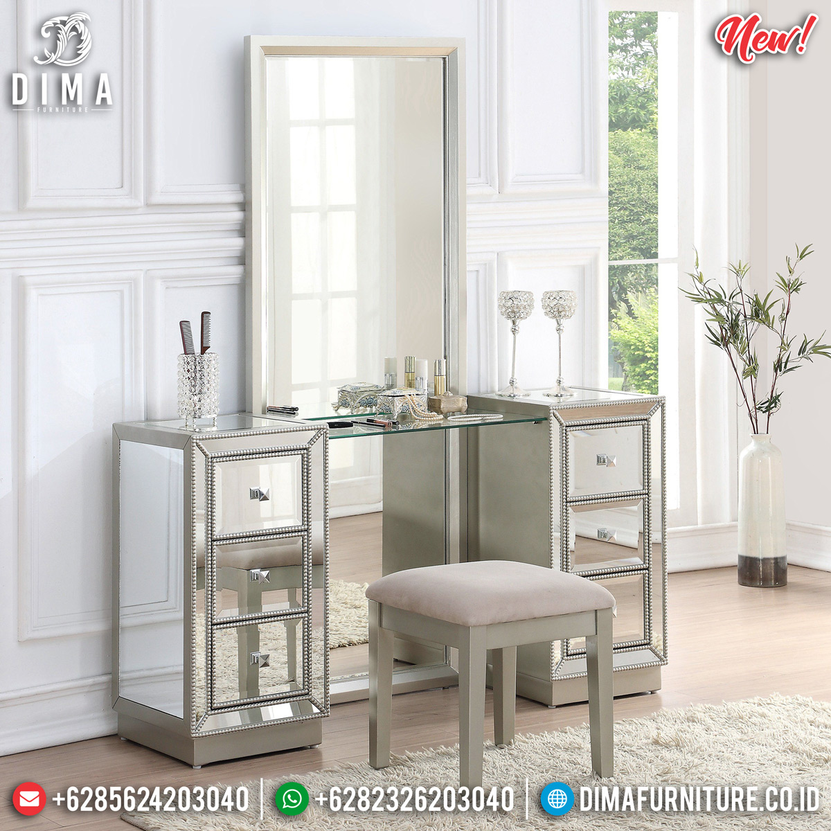 New Model Meja Rias Minimalis Unique Design Furniture Jepara BT-0726