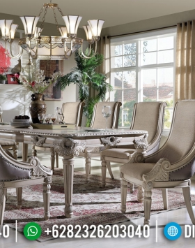 Set Meja Makan Klasik Luxury Beautiful Design Furniture Jepara BT-0698
