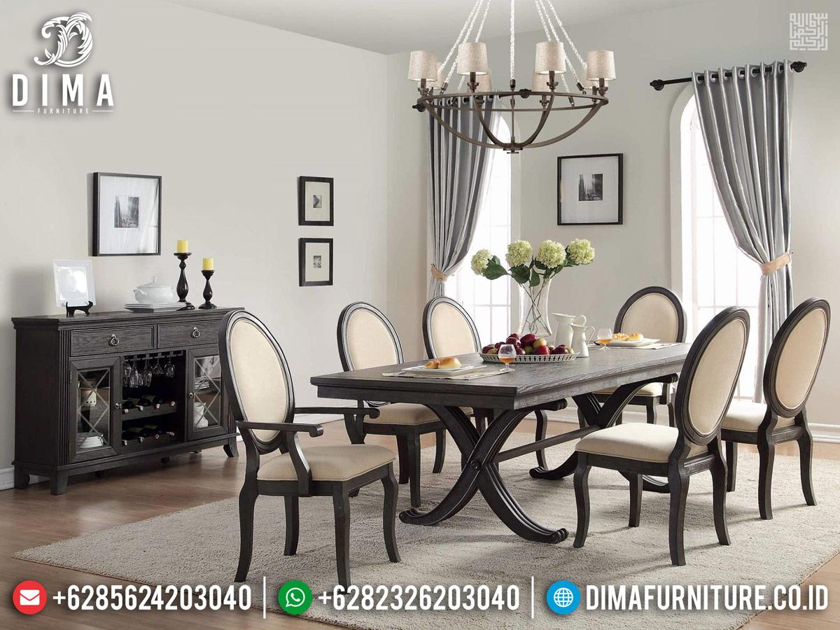 Set Meja Makan Minimalis Jati Natural Klasik Big Sale Termurah BT-0680