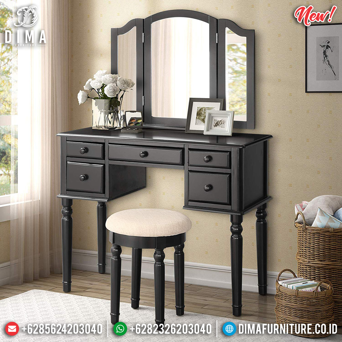 Set Meja Rias Minimalis Jepara Great Quality Furniture Jepara Bt-0727