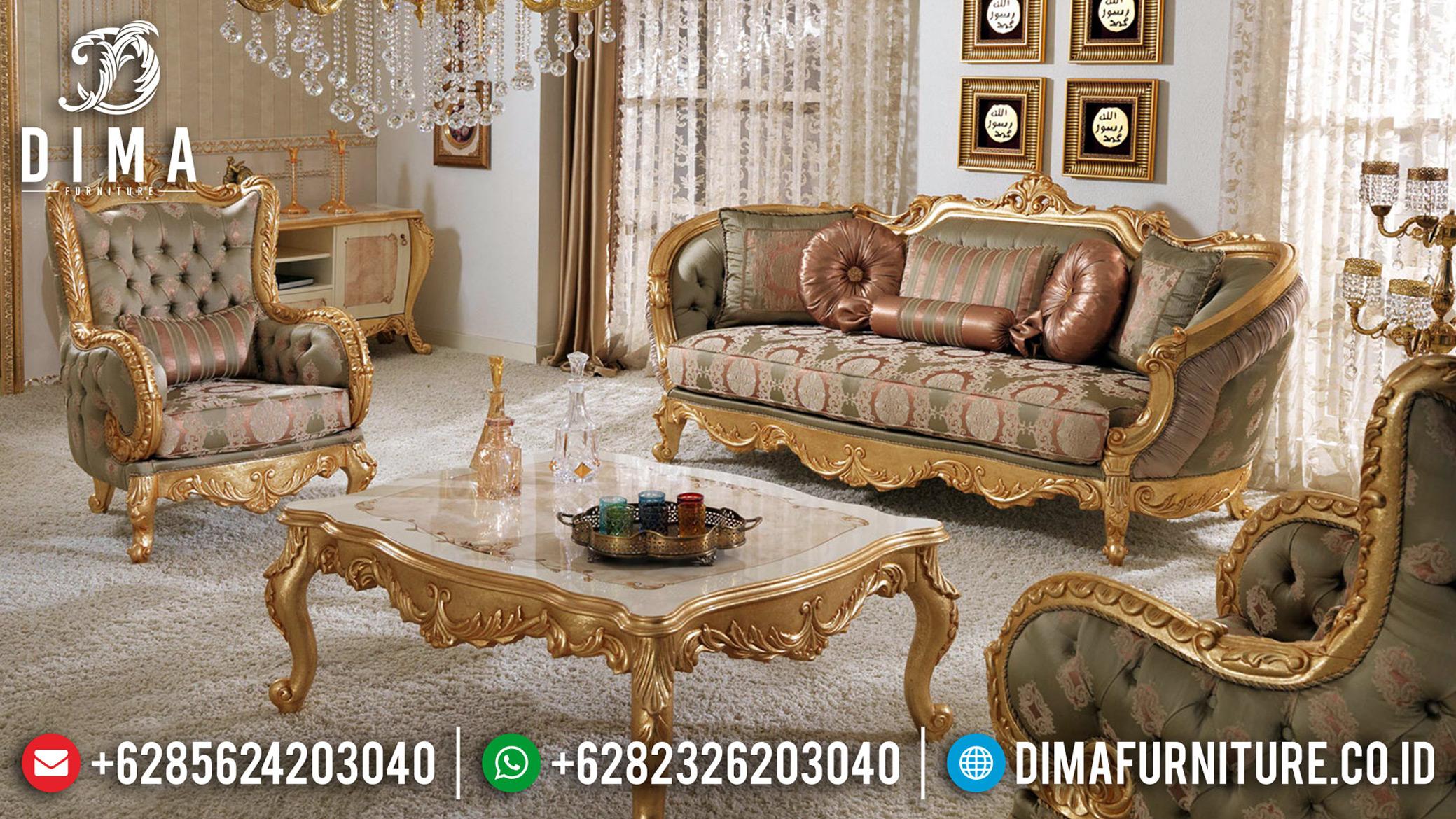 Set Sofa Tamu Mewah, Desain Ruang Tamu Klasik Luxury New Style Emperial BT-0687