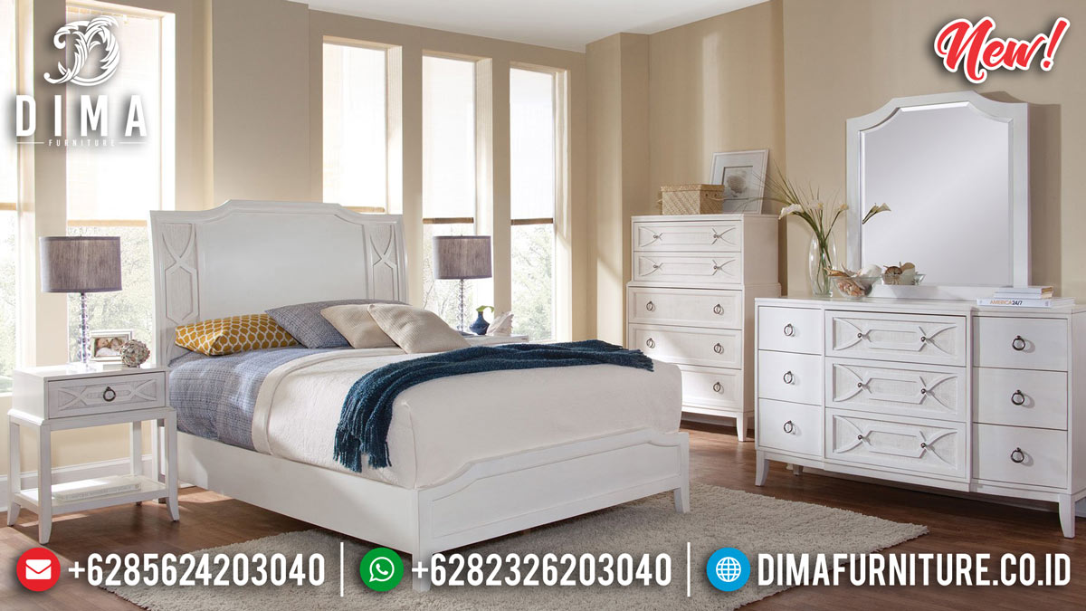 Absolute Solid Wood Kamar Set Minimalis Putih Duco Best Product Mebel Jepara BT-0791