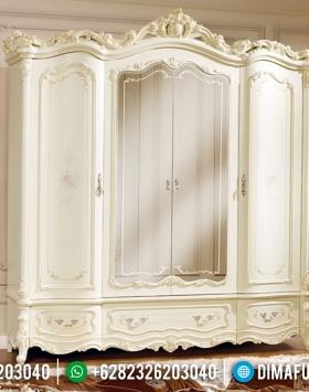 Almari Baju Ukiran Luxury, Lemari Pakaian Mewah New Rome Design Jepara BT-0829