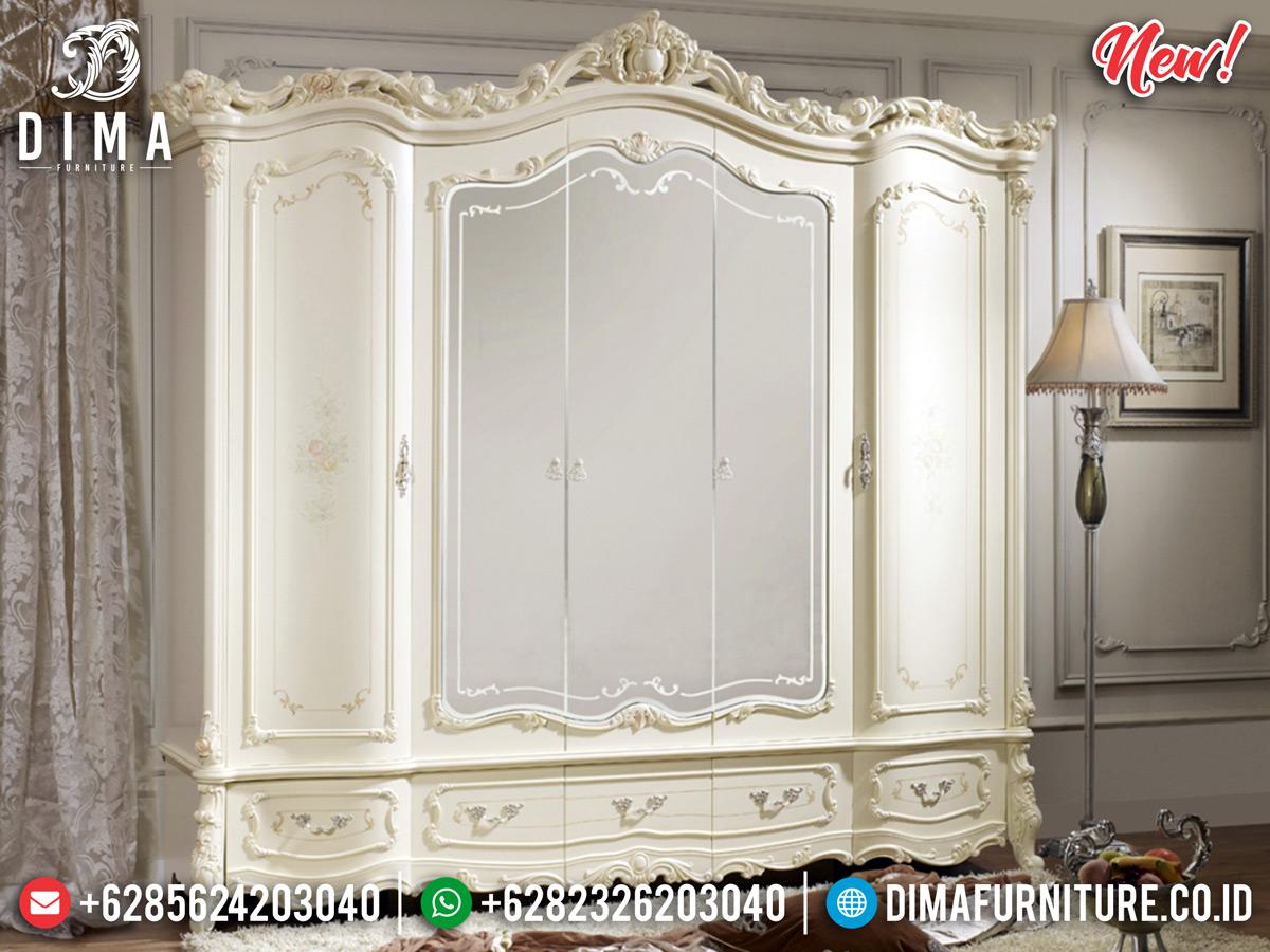 Best Seller Lemari Baju Mewah, Lemari Pakaian Ukiran Luxury New Europe Style BT-0830