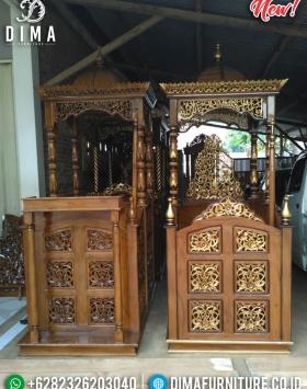 Big Sale Mimbar Masjid Ukir Jati Jepara Natural Classy Gloss BT-0751