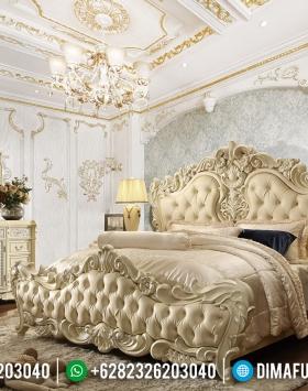 Deluxe Room Set Tempat Tidur Mewah Ukiran White Duco Ivory Luxury Classic BT-0824