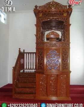 Desain Mimbar Masjid Nabawi Natural Luxury Classic Furniture Jepara BT-0754