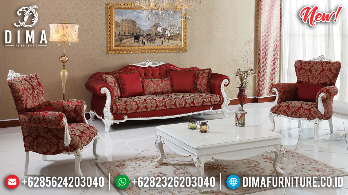 Desain Sofa Tamu Mewah Luxury Carving Vespucci Royals Unique Classic BT-0810