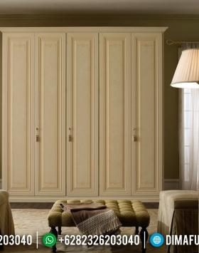 Elegant Desain Lemari Pakaian Mewah Sylvester New Product Furniture Jepara BT-0774