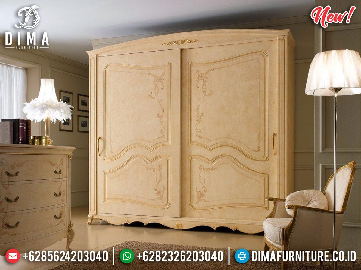 Free Ongkir Lemari Pakaian 2 Pintu Mewah Luxury Carving White Duco Ivory BT-0775
