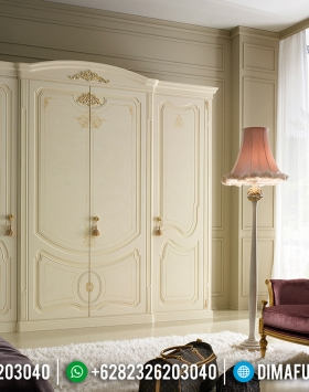 Harga Lemari Pakaian Mewah 4 Pintu Luxury Classic Great Solid Wood BT-0777