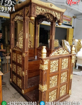 Harga Mimbar Masjid Kubah Jati Natural Luxury Carving Mebel Jepara BT-0741