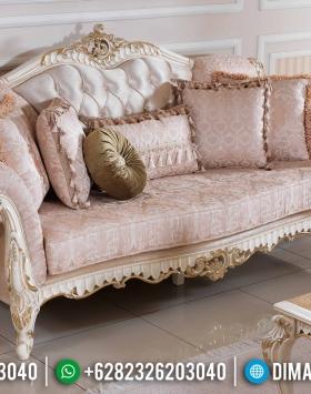 Harga Sofa Tamu Mewah 3 Dudukan Luxury Carving New Baroque Style BT-0763