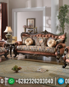 High Class Sofa Tamu Mewah Jati Natural Luxury Classic Jepara Terbaru BT-0814