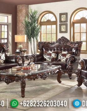 Joaquin Classic Style Sofa Tamu Jati Jepara Luxury Carving Natural Gorgeous BT-0790