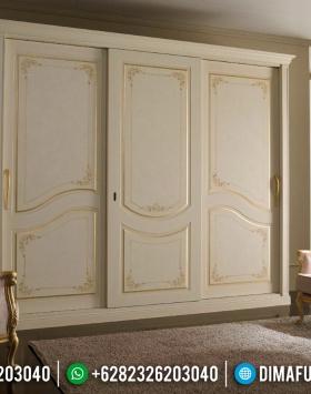 Jual Lemari Pakaian Mewah White Duco Furnishing Elegant Style Luxury Classic BT-0773