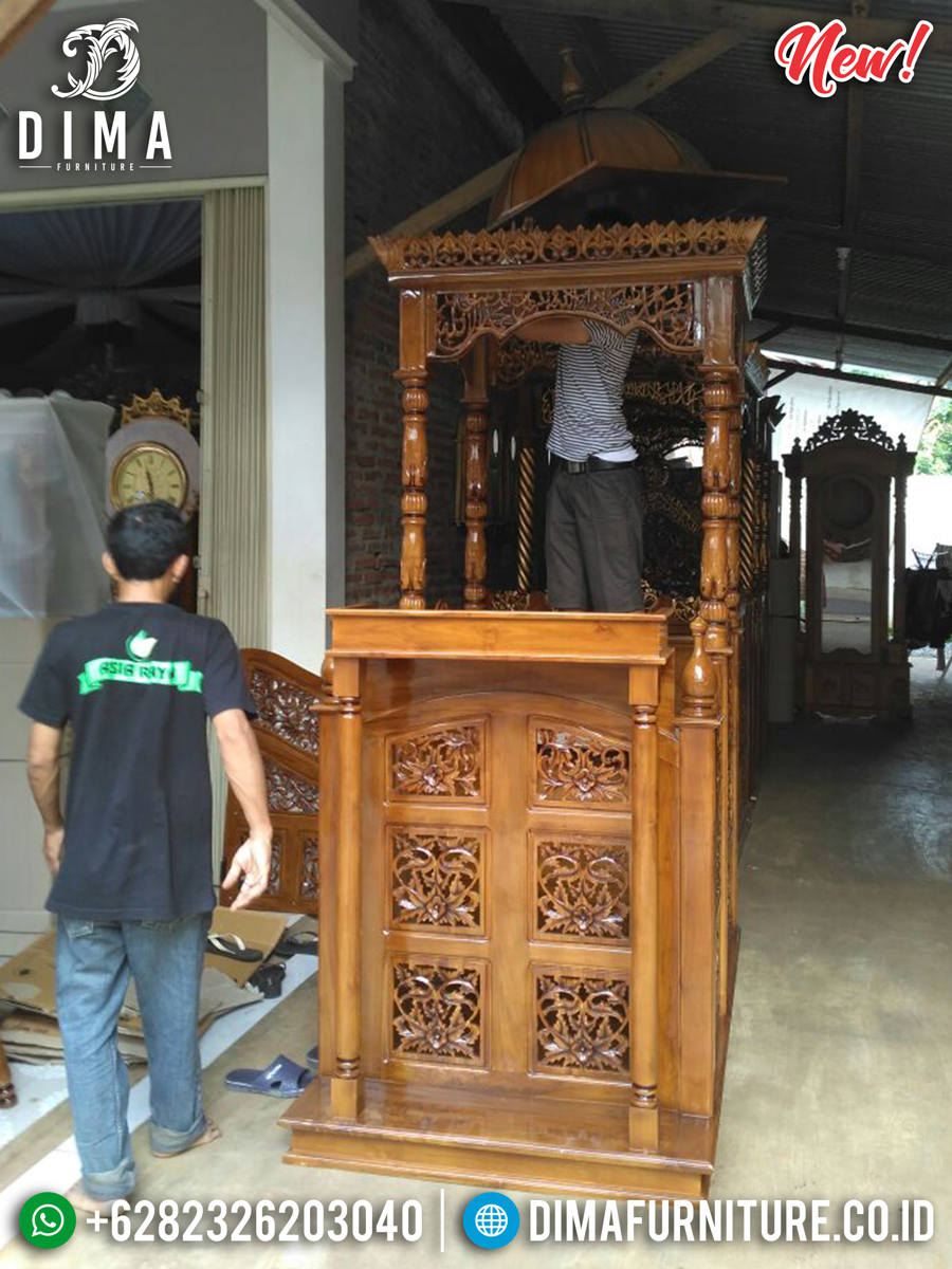 Jual Mimbar Kayu Jati Murah Furniture Luxury Jepara New Design Inspiring BT-0750
