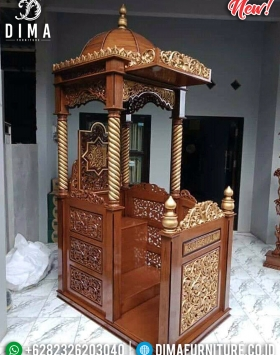 Jual Mimbar Masjid Murah New Model Ukiran Jepara Luxury Classic BT-0739