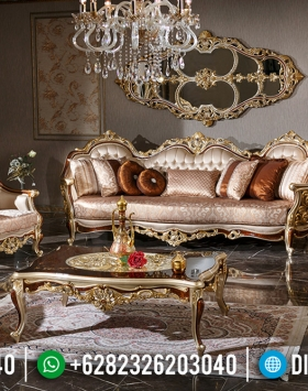 Luxury Gold Shine Sofa Tamu Mewah Jepara Luxury Carving Best Seller BT-0766