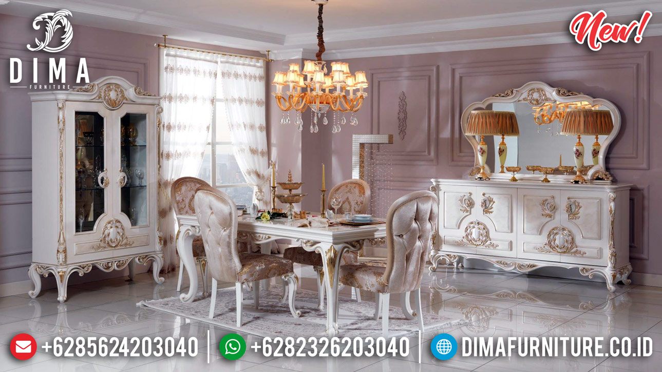 Marvellous Meja Makan Mewah Ukiran Klasik Luxury New Furniture Jepara BT-0819