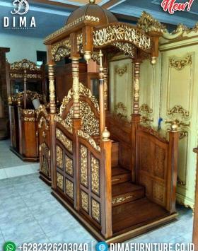 Mebel Jepara Mimbar Kubah Jati TPK Perhutani Natural Luxury Salak Gloss BT-0745