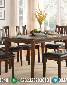 Meja Makan Minimalis Jati, Kursi Meja Makan Jati Natural Furniture Jepara BT-0804