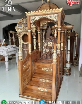 Mimbar Masjid Mewah Jepara Luxury Natural Classic Furniture Jepara BT-0758