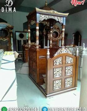 Mimbar Masjid Ukiran Jepara New Desain Kubah Persian Luxurious BT-0746
