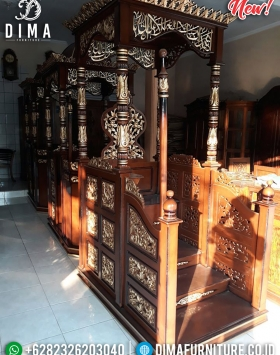 New Mimbar Masjid Mewah Ukiran Luxury Classic Mebel Jepara BT-0757