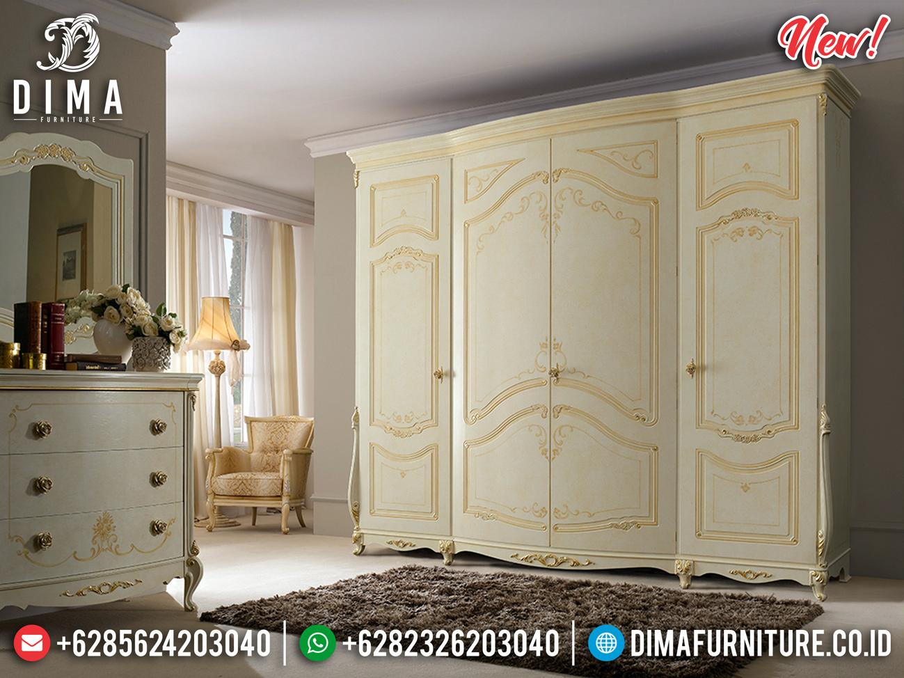 New Model Lemari Pakaian 4 Pintu Luxury Design Mebel Jepara Termewah BT-0782
