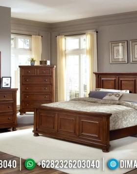 New Model Tempat Tidur Jati Minimalis Natural Salak Walnut Furniture Jepara Luxury BT-0798