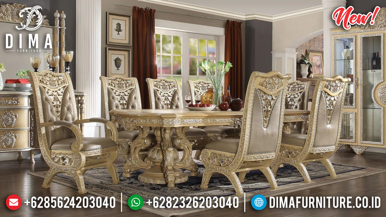 Pre Order Meja Makan Mewah Luxury Carving New Furniture Jepara Product BT-0822