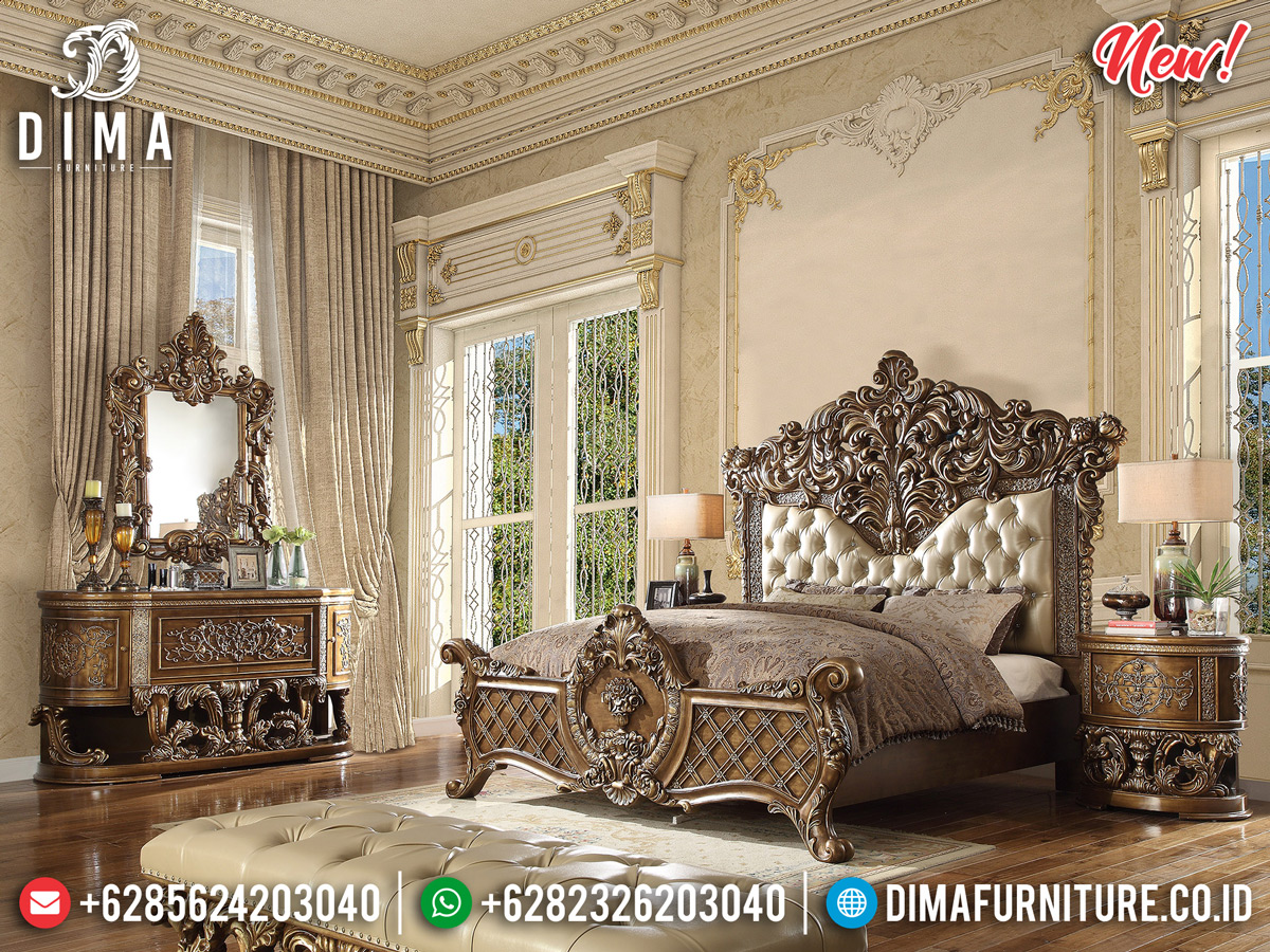 Queen Room Kamar Set Mewah Ukiran Luxury New Design Furniture Jepara BT-0823