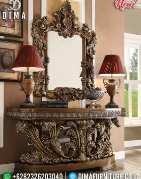 Set Meja Hias Ruang Tamu Mewah Harga Murah New Luxury Carving Louvre Type BT-0845