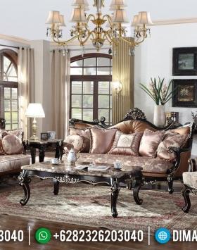 Set Sofa Tamu Ukiran Jepara Luxury Classic Kayu Jati Perhutani BT-0762
