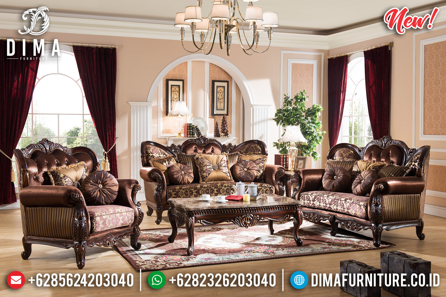 Sofa Tamu Jati Murah Ukiran Luxury Mebel Jepara Great Quality BT-0761