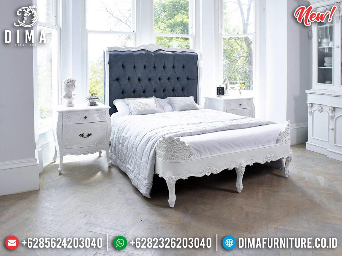 Tempat Tidur Putih Duco French Majestic Room Vanity Luxury Carving Jepara BT-0842