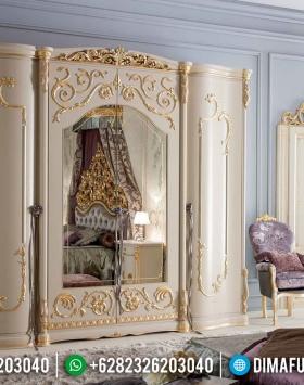 Wonderful Lemari Pakaian 4 Pintu Mewah Ukiran Luxury Great Solid Wood Perhutani BT-0828