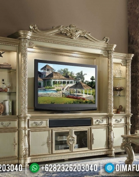 Harga Bufet TV Mewah Luxury Carving Golden Shine Duco Best Quality BT-0882
