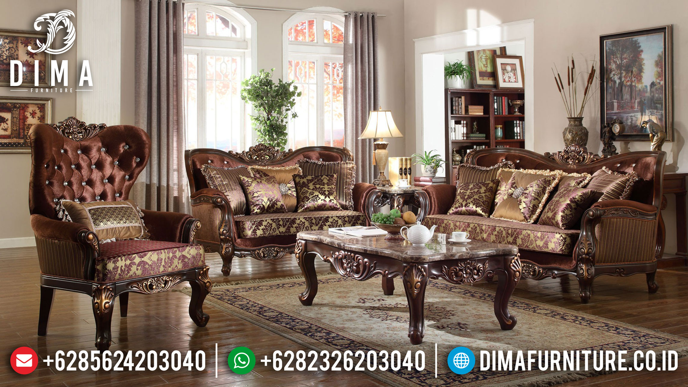 Kamasean Sofa Tamu Mewah Natural Combine Luxury Style Best Price BT-0857