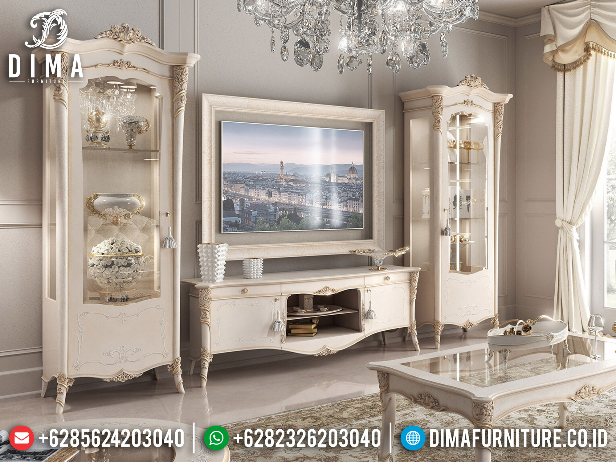 Model Bufet TV Mewah Elegant Konsep New Design Furniture Jepara Luxury BT-0880
