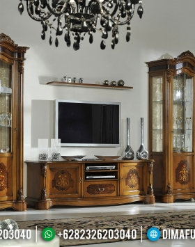 New Bufet TV Mewah Ukiran Elegant Luxury Furniture Jepara Terbaru BT-0872