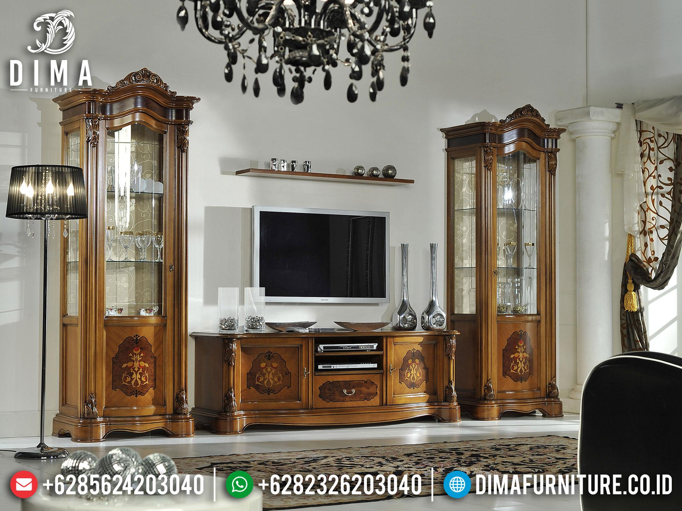 New Bufet TV Mewah Ukiran Elegant Luxury Furniture Jepara Terbaru BT-0872