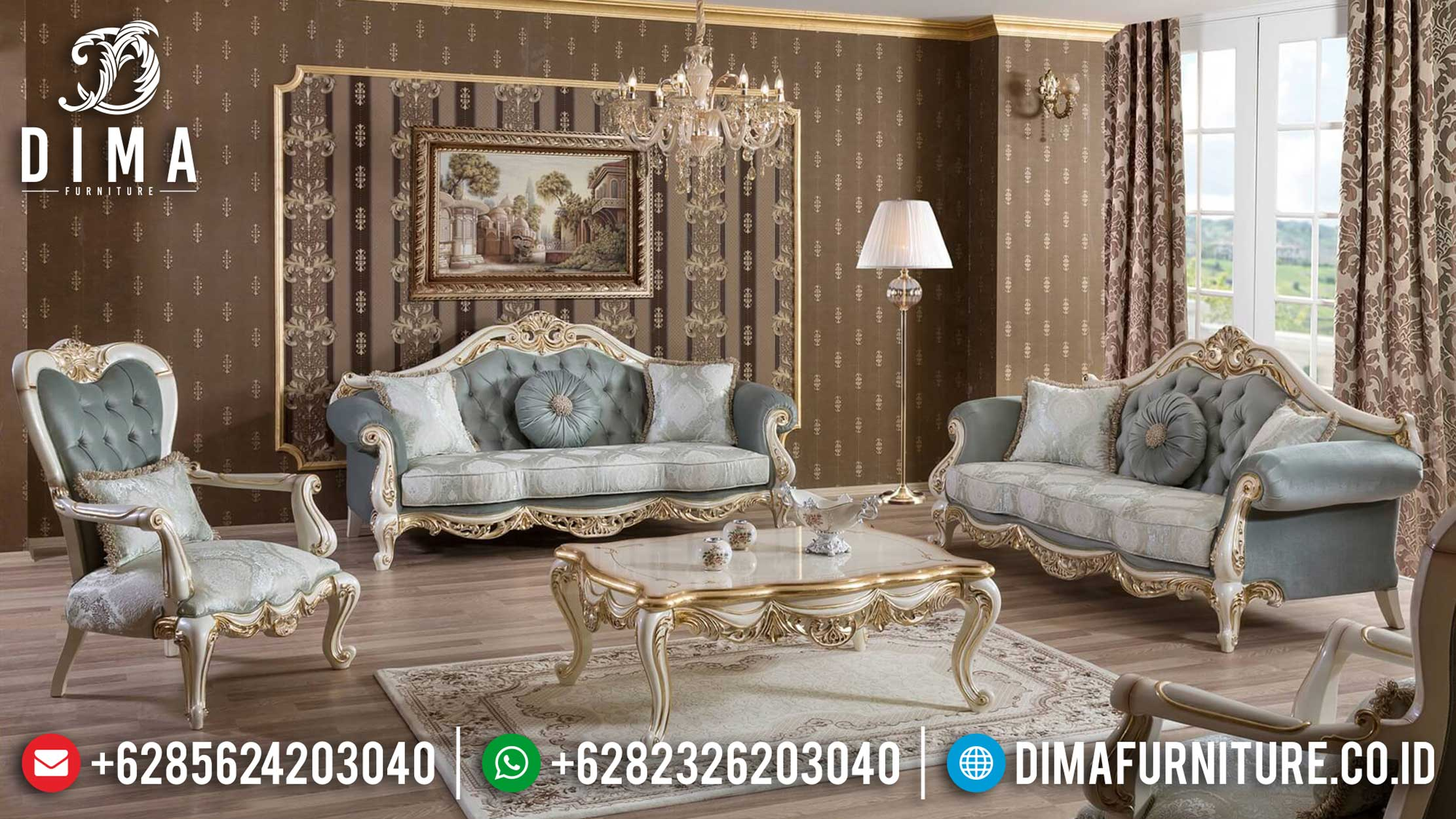 The Greatest Sofa Tamu Mewah Koltuk Turkish Design Luxurious Living Room BT-0853