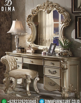 Golden Champagne Meja Rias Ukiran Classic Luxury New Furniture Jepara BT-0897