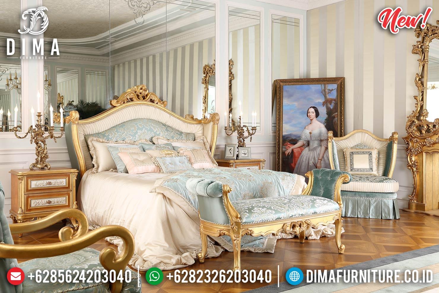 Golden Classic Carving Tempat Tidur Mewah Jepara Luxury Royals Furniture BT-0936