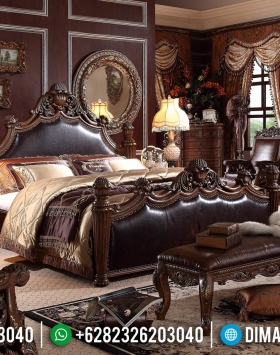 Kamar Set Mewah Jati Natural Classic Luxury Carving Imperial Kingdom Design BT-0937