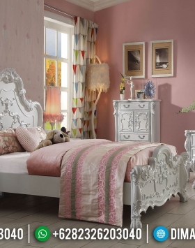 Luxury Carving Tempat Tidur Mewah Jepara White Duco Love Bedroom Set BT-0933