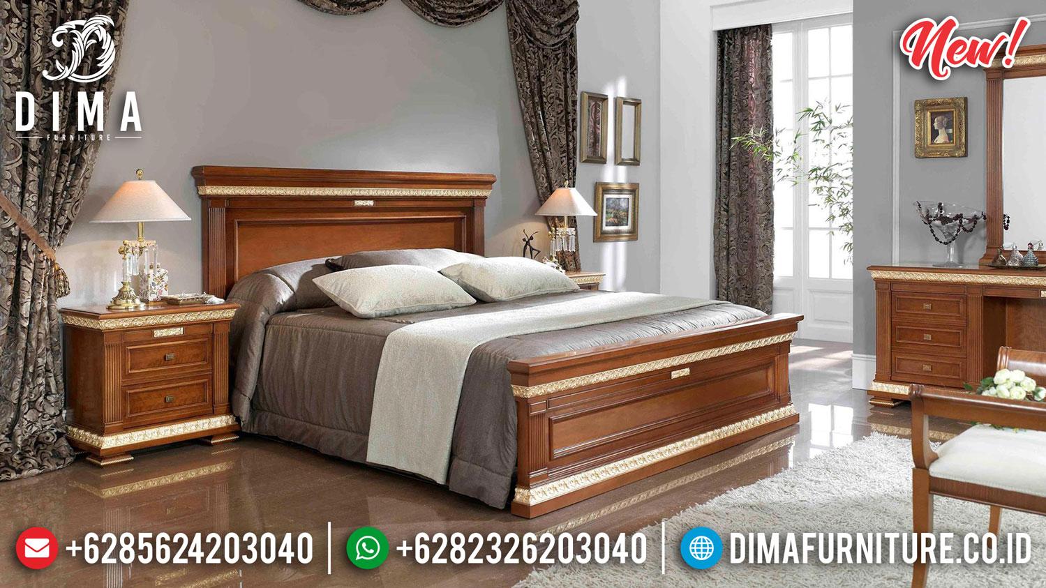 New Kamar Set Minimalis Natural Jati Klasik Mebel Jepara Terupdate BT-0905